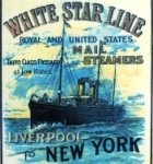 Poster for White Star Line taking Irish emigrants to New York.