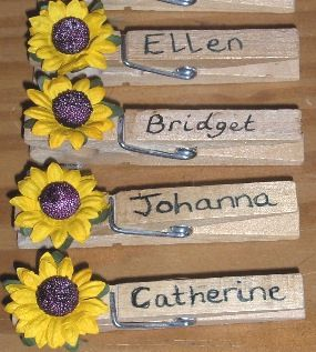 School pegs with traditional Irish first names written on them.