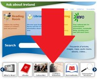 View of ASkAboutIreland homepage.