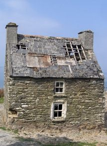 derelict cottage on Cape Clear