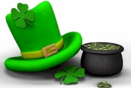Leprechaun's hat and pot of gold.