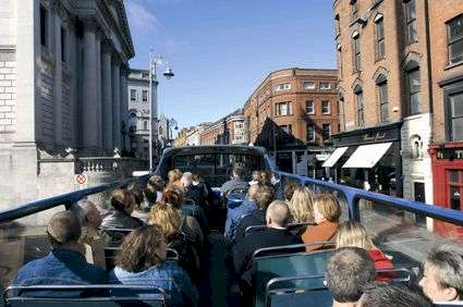 Dublin bus sightseeing tour.