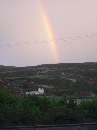 Rainbow over Cape Clear, Ireland.