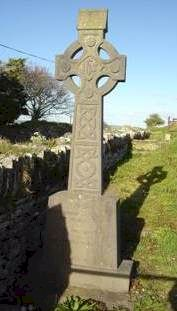 Irish Celtic cross memorial stone.