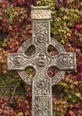 Irish Celtic symbols. The Irish cross. Ancient Celtic symbols.