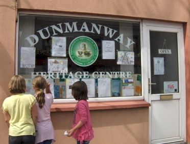 Children looking at exhibits at Dunmanway Heritage Centre.