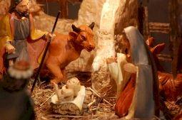 A Christmas crib