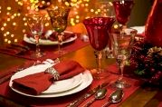 Lavish table arrangement for Christmas