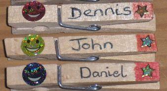 Irish boy names on school pegs