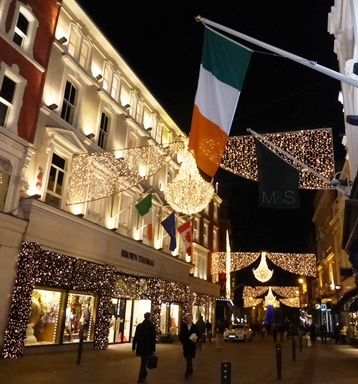 Christmas lights, Grafton Street, Dublin, 9 December 2014