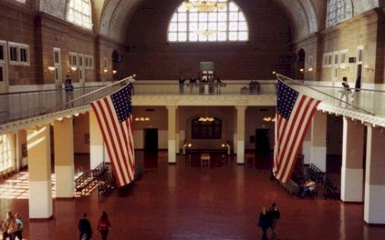 Ellis Island Reception area.