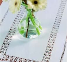 Irish linen and lace tablecloth.