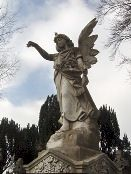 Angel statue in Glasnevin cemetery, Dublin.