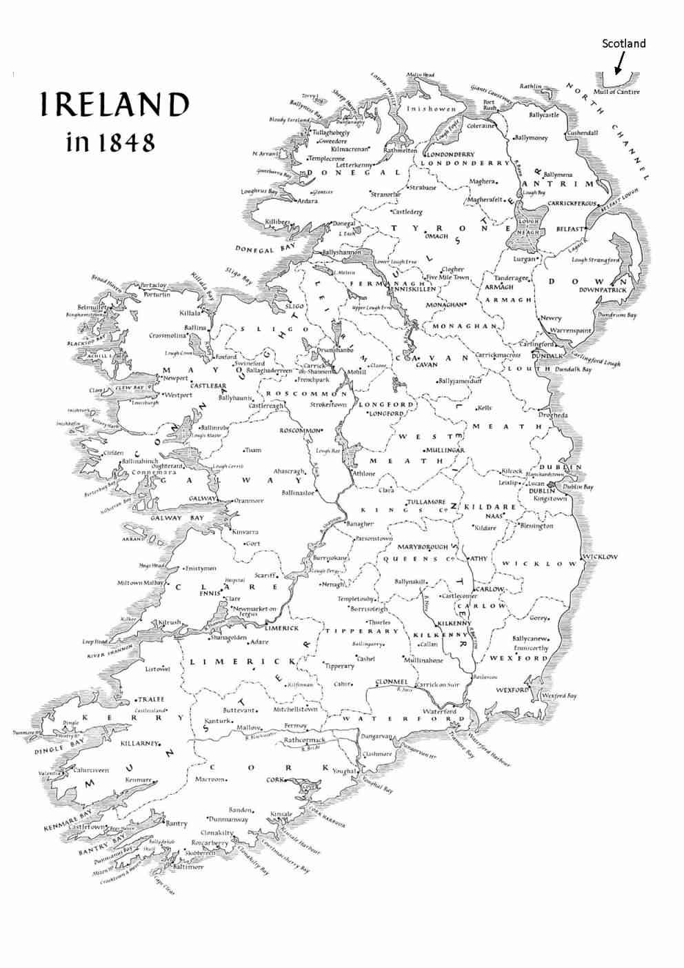 Influential image inside ireland map printable