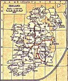 Map of Irish dioceses