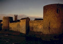 Evening view of King John's castle in Limerick