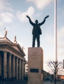 Jim Larkin's statue on O'Connell Street, Dublin
