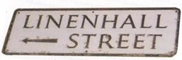 Linen Hall Street sign, Lisburn, Northern ireland