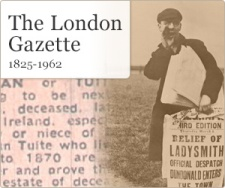 Ancestry advert for London Gazette