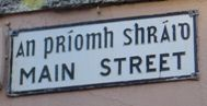 Main Street Bantry road sign