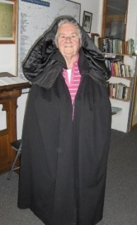 Maura Hurley models the traditional Irish Cloak.