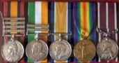 Medals from Boer War and WW1