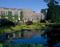 View to Mount Stewart House over ornamental pond