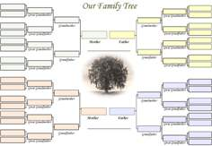 A blank family tree for 'Our' Family.