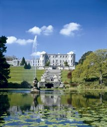 Powerscourt House and lily pond