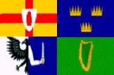 Flags of the four Irish provinces
