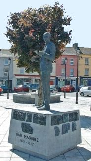 Sam Maguire's statue in Dunmanway market square.