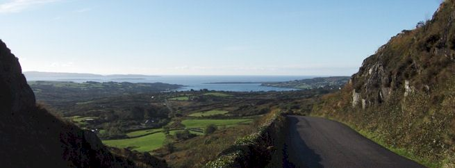 View of the approach to Schull, Cork, Ireland. copyright C Santry.