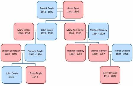 Irish family tree