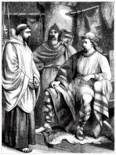 St Patrick meets King Laegaire.