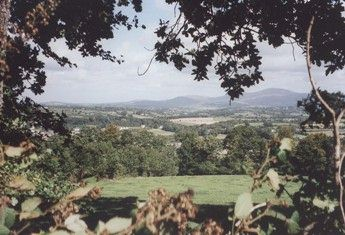 View from hills above Graigenamanagh, co Kilkenny, Ireland