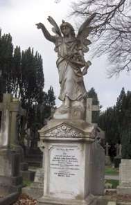 Angel memorial at Glasnevin cemetery.
