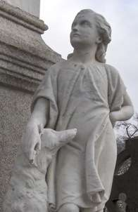 Sculpture in Glasnevin Cemetery, Dublin.