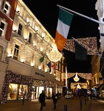 Christmas lights, Grafton Street, Dublin, 9 December 2014