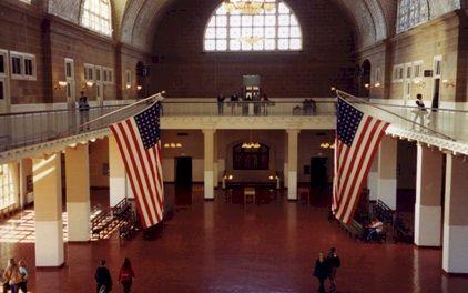 Ellis Island Reception area.
