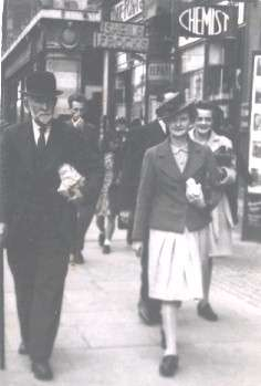 Patrick Doyle strolling down O'Connell Street 1947