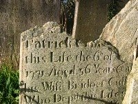 Broken gravestone.