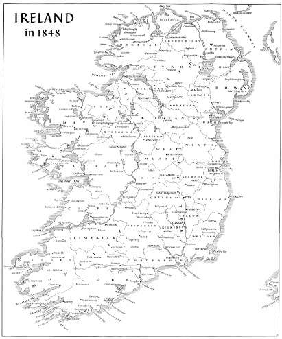 Map of Ireland 1848