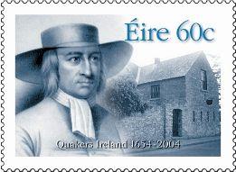 Postage Stamp depicting Irish Quakers.