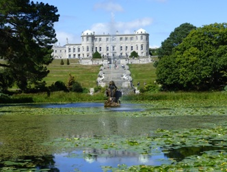 Powerscourt, Co Wicklow, view from south side of pond.