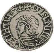 Replica of earliest Irish coin: King Sihtric silver penny