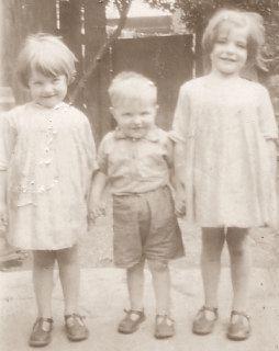Three children from Athy, Ireland, c1928