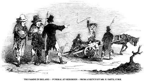 Irish famine- funeral in Skibbereen