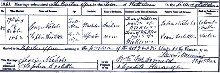 Sophia Doolittle's marriage certificate.