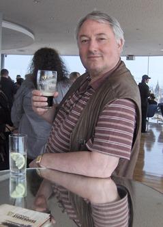 Sampling Guinness at the Storehouse Penthouse Bar
