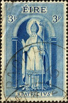 St Patrick on a stamp.